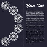 Винтажный дизайн шаблона брошюры стиля с восточным орнаментом Стоковые Фотографии RF