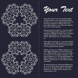 Винтажный дизайн шаблона брошюры стиля с восточным орнаментом Стоковые Фото