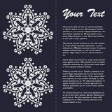 Винтажный дизайн шаблона брошюры стиля с восточным орнаментом Стоковое фото RF