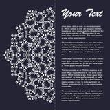 Винтажный дизайн шаблона брошюры стиля с восточным орнаментом Стоковые Изображения