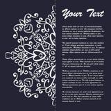 Винтажный дизайн шаблона брошюры стиля с восточным орнаментом Стоковая Фотография