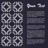 Винтажный дизайн шаблона брошюры стиля с восточным орнаментом Стоковое Фото