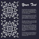 Винтажный дизайн шаблона брошюры стиля с восточным ornamentv Стоковая Фотография RF