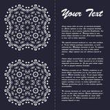 Винтажный дизайн шаблона брошюры стиля с современным искусством восточным e Стоковое фото RF