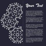Винтажный дизайн шаблона брошюры стиля с элементами и орнаментом современного искусства восточными Стоковые Изображения RF