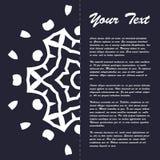 Винтажный дизайн шаблона брошюры стиля с элементами и орнаментом современного искусства восточными Стоковые Фото