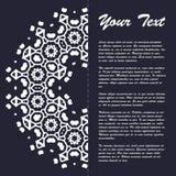 Винтажный дизайн шаблона брошюры стиля с элементами и орнаментом современного искусства восточными Стоковая Фотография RF