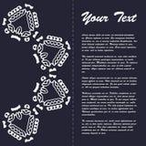 Винтажный дизайн шаблона брошюры стиля с элементами и орнаментом современного искусства восточными Стоковое Изображение RF