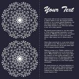 Винтажный дизайн шаблона брошюры стиля с элементами и орнаментом современного искусства восточными Стоковое Фото