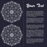 Винтажный дизайн шаблона брошюры стиля с элементами и орнаментом современного искусства восточными Стоковое Изображение