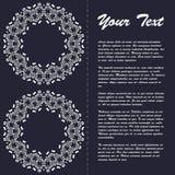 Винтажный дизайн шаблона брошюры стиля с элементами и орнаментом современного искусства восточными Стоковые Изображения