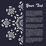 Винтажный дизайн шаблона брошюры стиля с элементами и орнаментом современного искусства восточными Стоковое фото RF