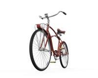 Винтажный изолированный велосипед Стоковое Изображение