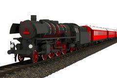 Винтажный изолированный поезд Стоковые Изображения RF