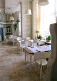 Винтажный интерьер ресторана Стоковое Изображение