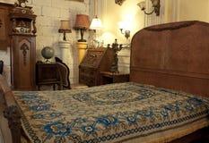Винтажный интерьер спальни Стоковое Фото