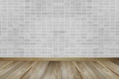 Винтажный интерьер с кирпичной стеной и деревянным полом стоковое изображение