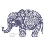Винтажный индийский слон Стоковые Изображения