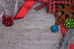 Винтажный дисплей рождества Стоковые Изображения
