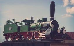 Винтажный исторический поезд пара Стоковые Фотографии RF