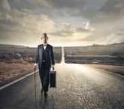 Винтажный идти человека Стоковое Изображение