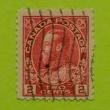 Винтажный канадский штемпель почтового сбора Стоковое Изображение RF