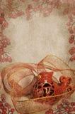 Винтажный кардинал рождества Стоковое фото RF