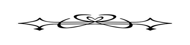 Винтажный каллиграфический рассекатель - декоративный элемент границы Стоковое Фото