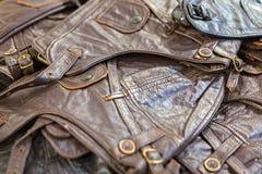Винтажный кожаный жилет Стоковое Изображение RF