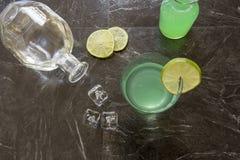 Винтажный коктеиль буравчика джина Стоковая Фотография RF