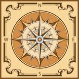 Винтажный компас Стоковые Изображения