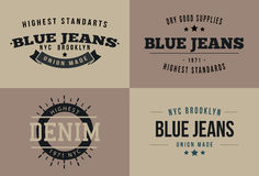 Винтажный комплект дизайна футболки Стоковое Изображение