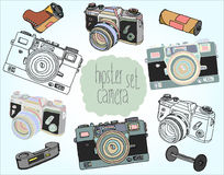 Винтажный комплект камеры Стоковое фото RF