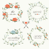 Винтажный комплект свадьбы Стоковая Фотография