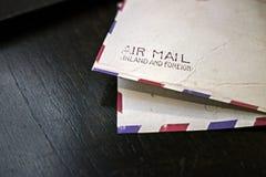 Винтажный конверт воздушной почты Стоковые Изображения RF