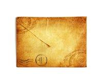 Винтажный конверт на белизне Стоковая Фотография RF