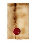 Винтажный конверт стоковые фото