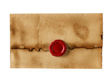 Винтажный конверт стоковые фотографии rf