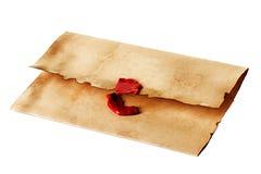 Винтажный конверт стоковое изображение