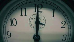 Винтажный конец-вверх циферблата Видео Timelapse сток-видео