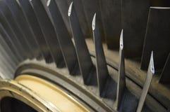 Винтажный конец двигателя аэроплана вверх Стоковые Фотографии RF