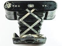 Винтажный конец камеры вверх по стилю аккордеона стоковые фотографии rf