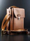 Винтажный коричневый портфель Стоковое Изображение RF