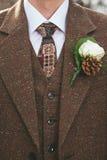 Винтажный костюм groom Стоковая Фотография RF