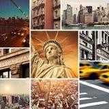Винтажный коллаж Нью-Йорка Стоковое Изображение RF