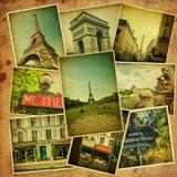 Винтажный коллаж. Перемещение Парижа. Стоковые Фото