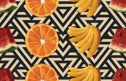 Винтажный красивый и ультрамодный безшовный злободневный дизайн картины лета в супер высоком разрешении Текстура украшения картин иллюстрация вектора