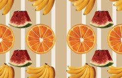 Винтажный красивый и ультрамодный безшовный тропический дизайн картины лета в супер высоком разрешении Текстура украшения картины иллюстрация вектора
