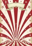 Винтажный красный цирк солнца Стоковое Изображение