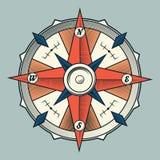 Винтажный красочный графический компас изолированный на светлой предпосылке. Стоковое Фото